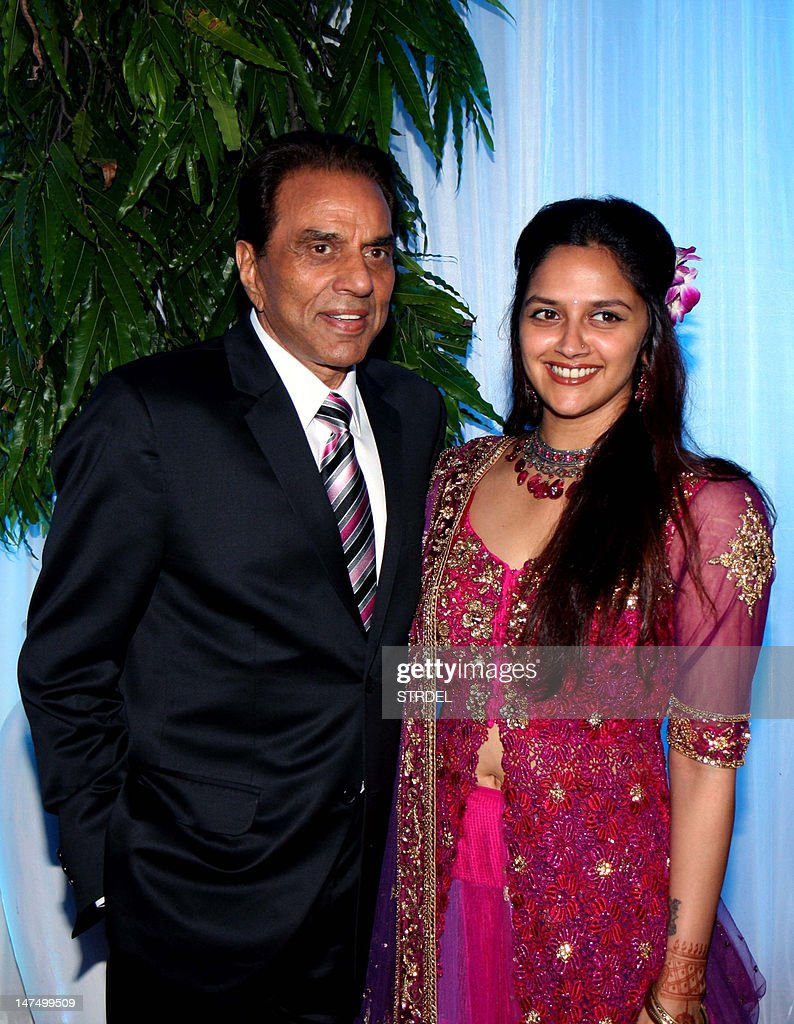 Indian Bollywood film actors Dharmendra Pictures | Getty Images for Dharmendra Daughter Wedding  83fiz