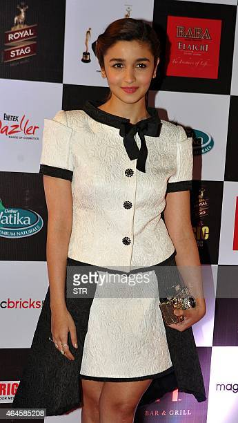 Indian Bollywood film actress Alia Bhatt attends the 'Mirchi Music Awards 2015' ceremony in Mumbai on February 26 2015 AFP PHOTO