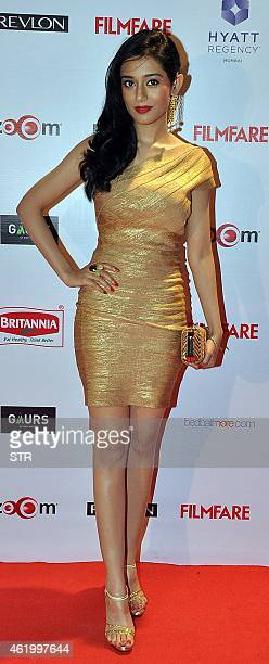 Indian Bollywood film actress Amrita Rao poses at the 60th Britannia 'Filmfare Awards 2014' PreAwards Party in Mumbai on January 22 2015 AFP PHOTO