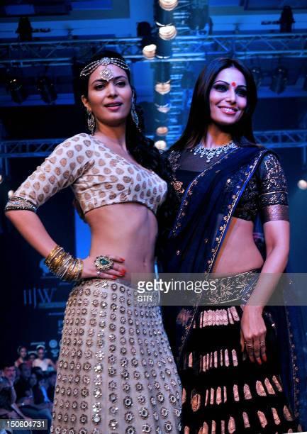 Indian Bollywood film actress and a former model Ankita Shorey and film actress Bipasha Basu showcase jewellery designer Gitanjali Jewels creations...