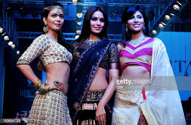 Indian Bollywood film actress and a former model Ankita Shorey film actress Bipasha Basu and Indian contender for Miss World 2012 Vanya Mishra...