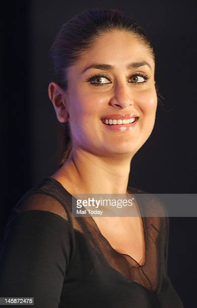 Indian Bollywood film actress and brand ambassador for Sony 'VAIO' laptops Kareena Kapoor poses during the launch of the new range VAIO T Ultrabook...