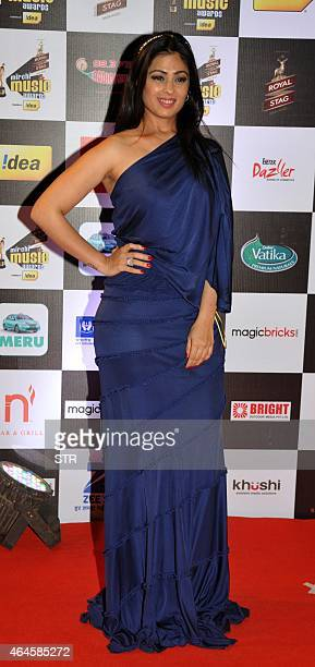 Indian Bollywood film actress Anjana Sukhani attends the 'Mirchi Music Awards 2015' ceremony in Mumbai on February 26 2015 AFP PHOTO