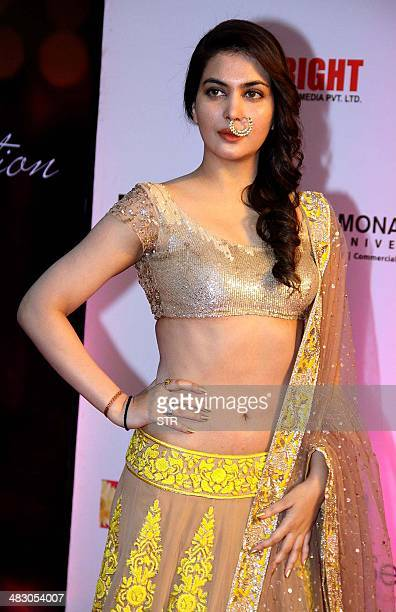 Indian Bollywood film actress Ankita Shorey attends the 'Femina Miss India 2014' grand finale in Mumbai on April 5 2014 AFP PHOTO