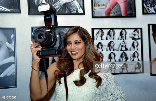 Indian Bollywood film actress Bipasha Basu poses during the launch of Daboo Ratnani's Celebrity Calendar 2015 in Mumbai on January 5 2015 AFP PHOTO