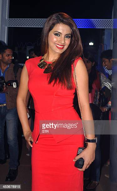Indian Bollywood film actress Geeta Basra attends the 'Aamby Valley India Bridal Fashion Week 2013' fashion show in Mumbai on December 4 2013 AFP...