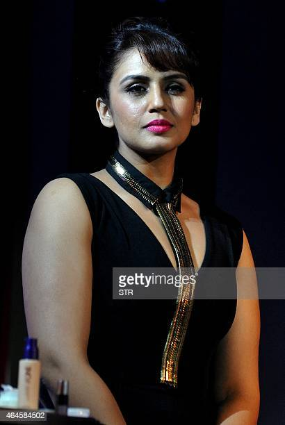 Indian Bollywood film actress Huma Qureshi as brand ambassador for Color Cosmetic Oriflame India unveils the enhanced The One range in Mumbai on...