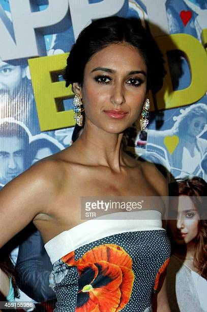 Indian Bollywood film actress Ileana D'Cruz attends the special screening of Hindi film Happy Ending in Mumbai on November 17 2014 AFP PHOTO