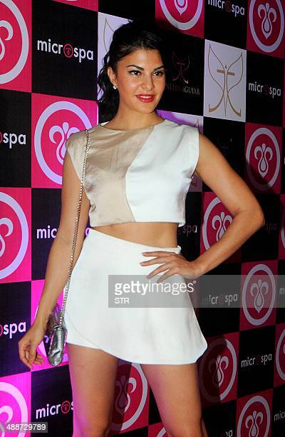 Indian Bollywood film actress Jacquline Fernandez attends the launch of 'Microspa' in Mumbai on May 7 2014 AFP PHOTO