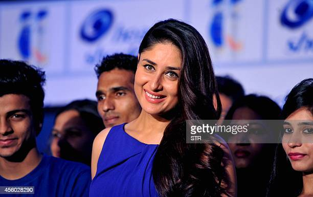 Indian Bollywood film actress Kareena Kapoor as Brand Ambassador for Head Shoulders poses during the new campaign 'Pyaar mein No Side Effects' in...