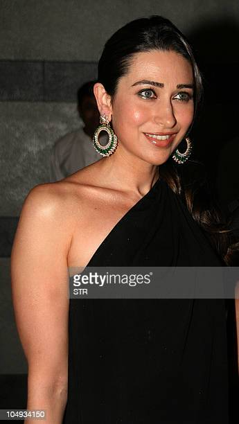 Indian Bollywood film actress Karishma Kapoor attends the opening party of the HDIL Couture Week 2010 in Mumbai on October 5 2010 AFP PHOTO/STR