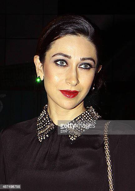 Indian Bollywood film actress Karisma Kapoor attends the music launch of upcoming Hindi film 'Karle Pyaar Karle' directed by Rajesh Pandey in Mumbai...