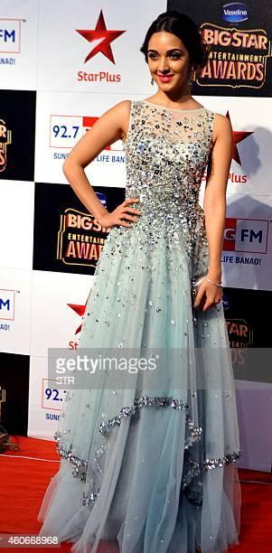 Indian Bollywood film actress Kiara Advani attends the 'BIG Star Entertainment Awards' ceremony in Mumbai on December 18 2014 AFP PHOTO