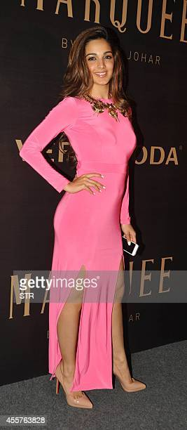 Indian Bollywood film actress Kiara Advani attends the launch of Vero Moda's Marquee collection designed by Indian filmmaker Karan Johar in Mumbai on...