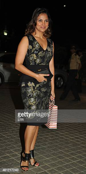 Indian Bollywood film actress Lara Dutta attends the 50th birthday party of Bollywood film director choreographer producer and actress Farah Khan at...