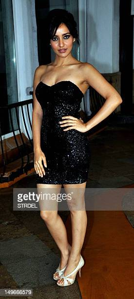 Indian Bollywood film actress Neha Sharma poses during the promotion of her film 'Kya Super Kool Hai' in Mumbai on August 1 2012 AFP PHOTO