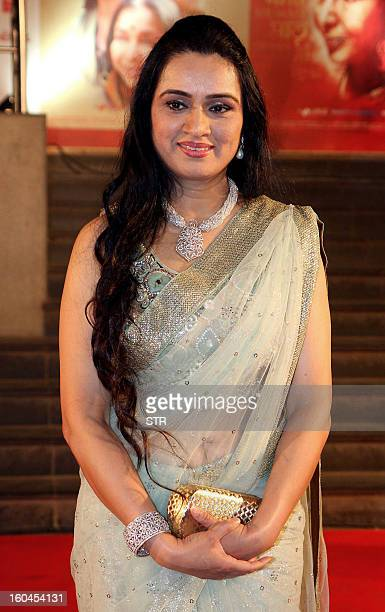 Indian Bollywood film actress Padmini Kolhapure poses at the premier of the Hindi film 'Mai' in Mumbai on January 31 2013 AFP PHOTO