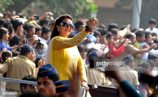 Indian Bollywood film actress Poonam Dhillon participates in India's 65th Republic Day celebrations in Mumbai on January 26 2014 AFP PHOTO