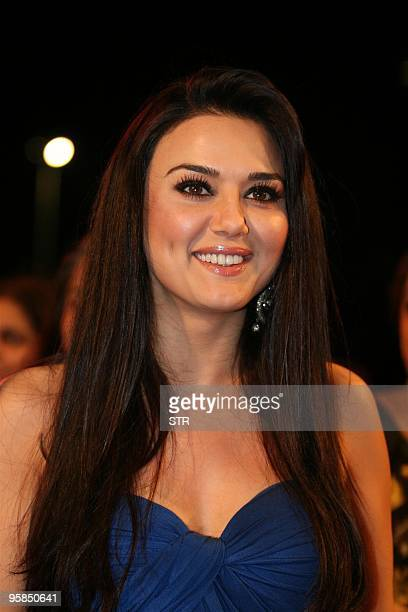 Indian Bollywood film actress Preity Zinta attends the Stardust Awards in Mumbai late on January 17 2010 AFP PHOTO/STR