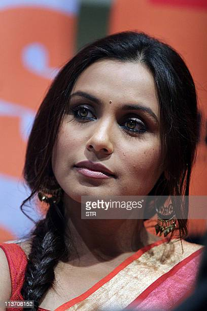 Indian Bollywood film actress Rani Mukherjee attends the launch of the book 'Mafia Queens' written by one of India's leading crime journalists...