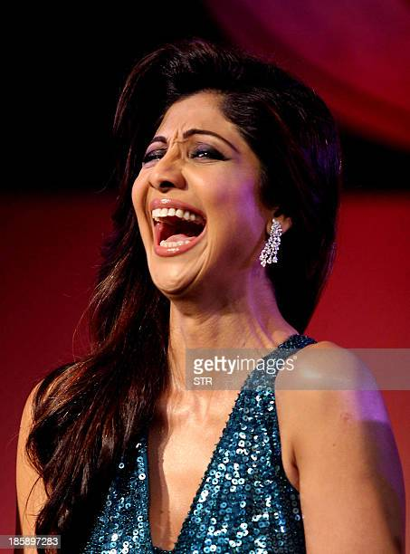 Indian Bollywood film actress Shilpa Shetty Kundra attends the press conference announcing the judges in the dance reality show 'Nach Baliye 6' in...