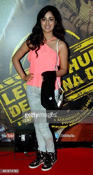 Indian Bollywood film actress Yami Gautam attends the premier of Hindi film 'Lekar Hum Deewana Dil' in Mumbai on July 3 2014 AFP PHOTO