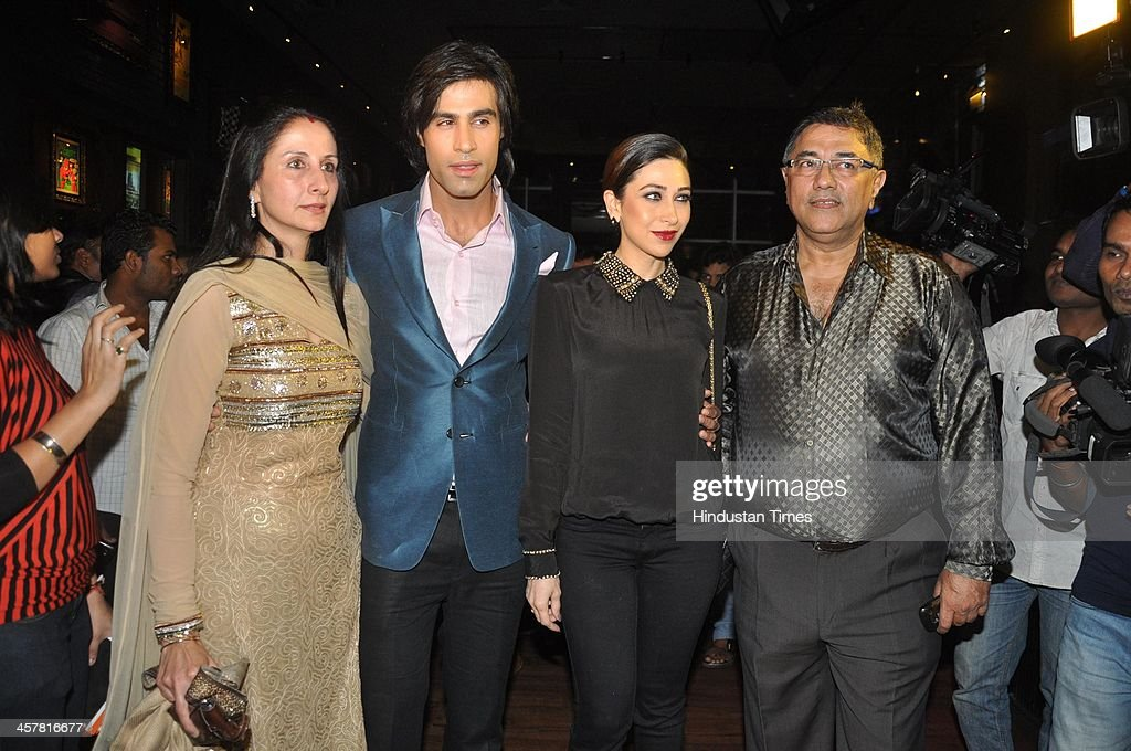Indian Bollywood filmmakers Suneel Darshan and Dharmesh Darshan along with actors Karisma Kapoor Shiv Darshan and Hasleen Kaur during an event hosted.
