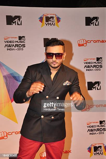 Indian Bollywood music director singer and composer Honey Singh during the MTV Video Music Awards 2013 at Tulip Star Hotel Juhu Tara Road on March 21...
