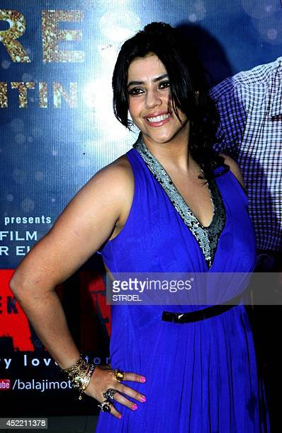 Indian Bollywood producer Ekta Kapoor poses during a success party for the Hindi film 'Ek Villain' in Mumbai on July 15 2014 AFP PHOTO/STR