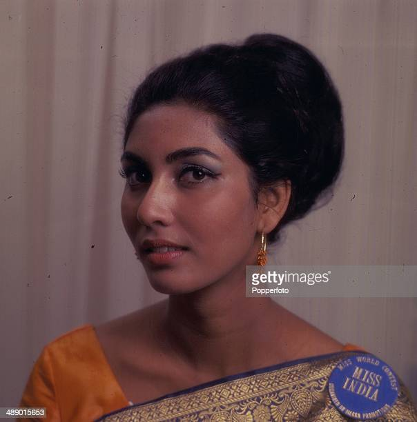 Indian born winner of the Miss World title Reita Faria posed in London in 1966.