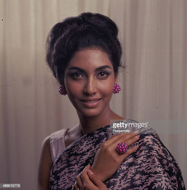 1966 Indian born winner of the Miss World title Reita Faria posed in London in 1966