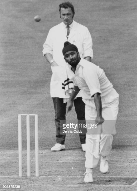 Indian bowler Bishan Singh Bedi in action 2nd August 1971