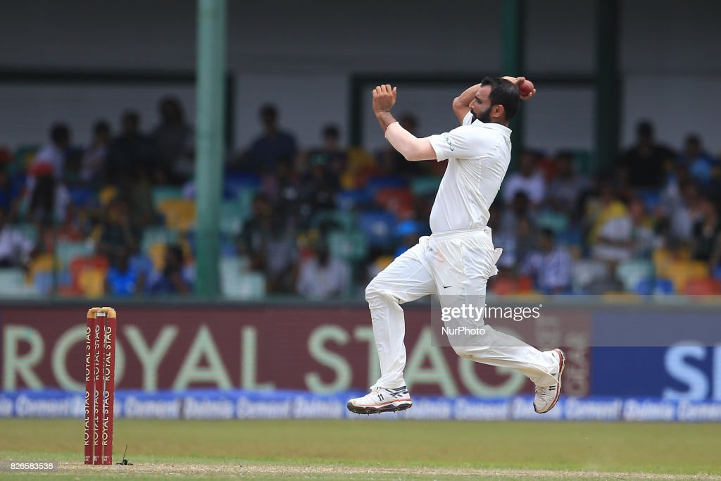 Sri Lanka v India - Cricket, Day 3 : News Photo