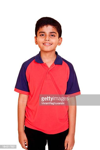 Indian Boy Casual Cheerful Little Isolated on White