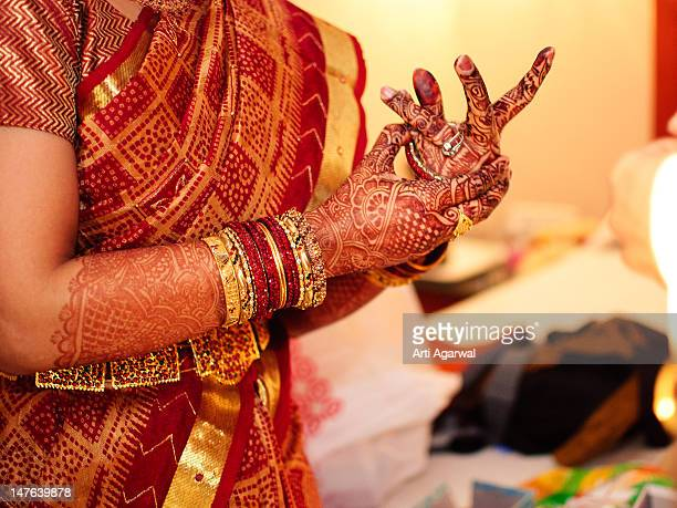 Indian bride and bangles