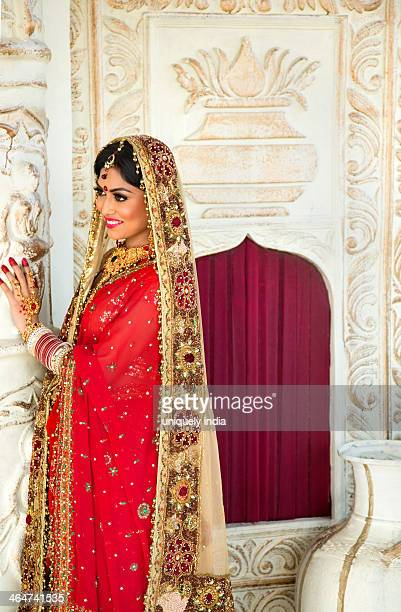 Indian bride in traditional wedding dress