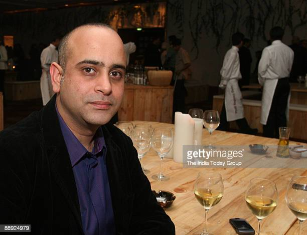 Indian businessman Nikhil Nanda enjoying a party time at Italian Wine Evening hosted by Naresh Uttamchandani who got into the wine business with...