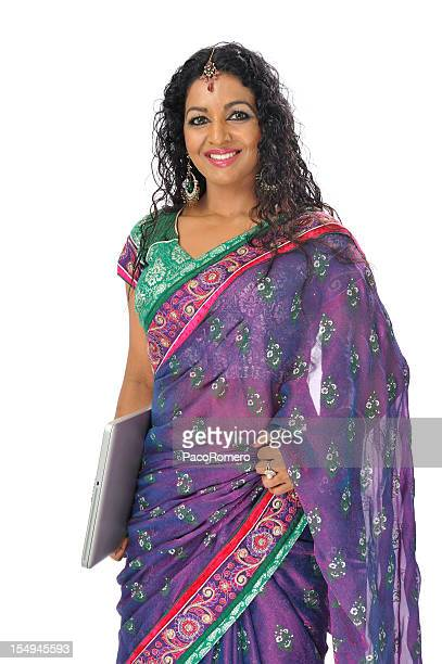 Indian businesswoman with traditional sari