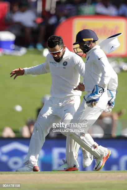 Indian captain Virat Kohli fields during the first day of the second Test cricket match between South Africa and India at Supersport cricket ground...