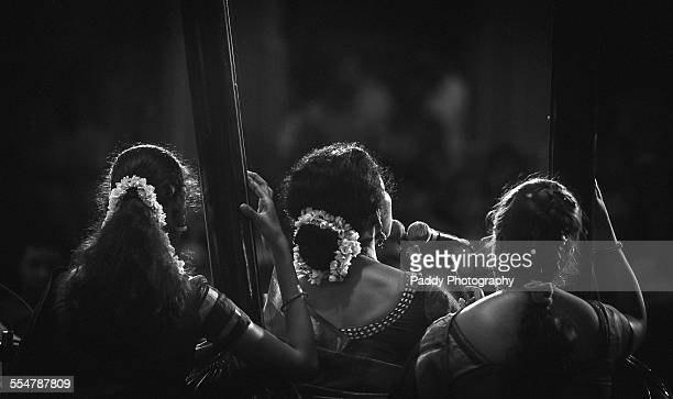 indian carnatic classical music performance - indian music stock photos and pictures