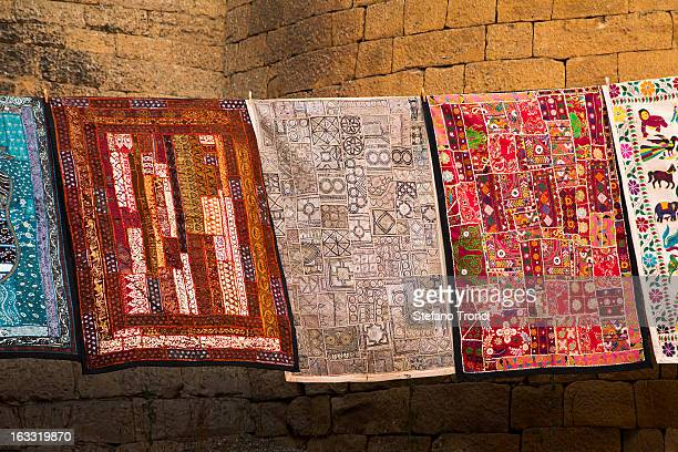 Indian carpets sold on the streets of Jaisalmer