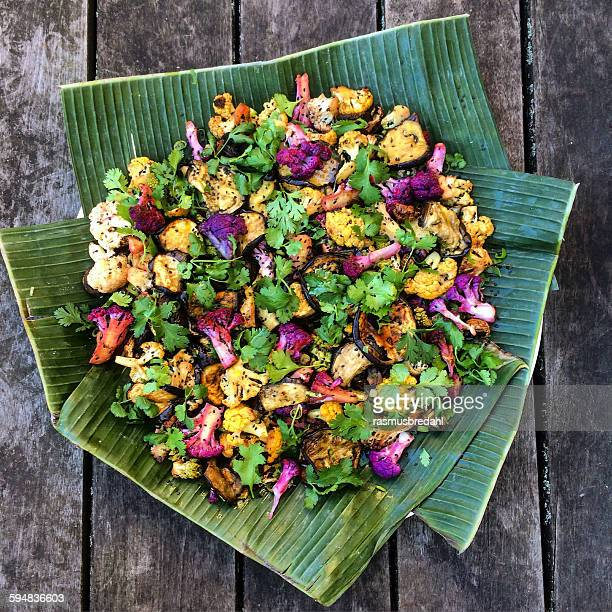 Indian cauliflower with curry and nigella seeds