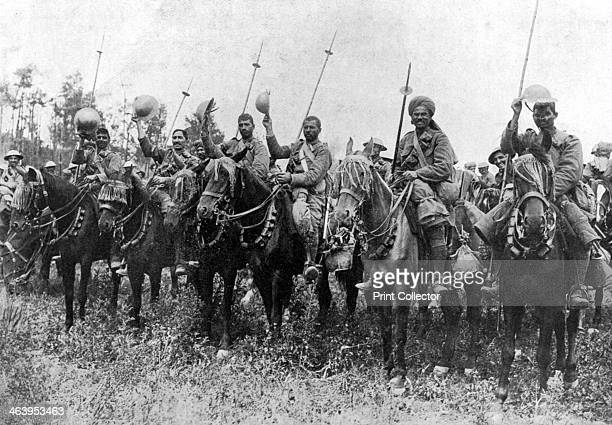 Indian cavalry after their charge Somme France First World War 14 July 1916 Illustration from The Illustrated War Record of the Most Notable Episodes...