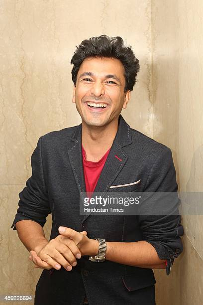 Indian chef restaurateur and cookbook writer Vikas Khanna during the 11th Annual Chef Awards 2014 at Hotel Ashok on November 15 2014 in New Delhi...
