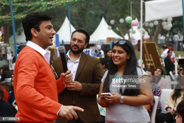 Indian Chef Vikas Khanna during the Hindustan Times Palate Fest 2017 at Nehru Park on November 18 2017 in New Delhi India The popular Palate Fest a...