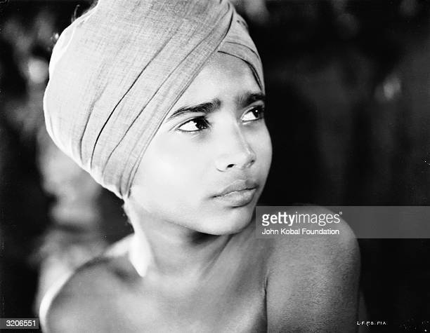 Indian child actor Sabu plays the title role of Toomai in 'Elephant Boy' directed by Robert J Flaherty and Zoltan Korda