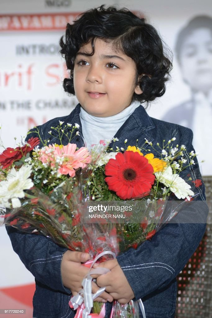 Indian child artist Aarif Sharma poses during a promotional event for the ongoing television serial `Zindagi Ki Mehak` in Amritsar on February 13...