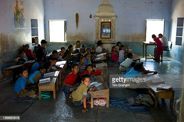 Indian children at Rajyakaiya School in Narlai village Rajasthan Northern India