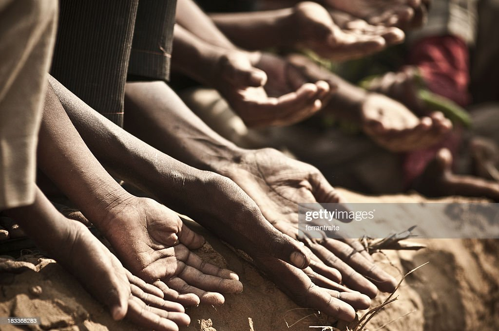 Indian children begging : Stock Photo