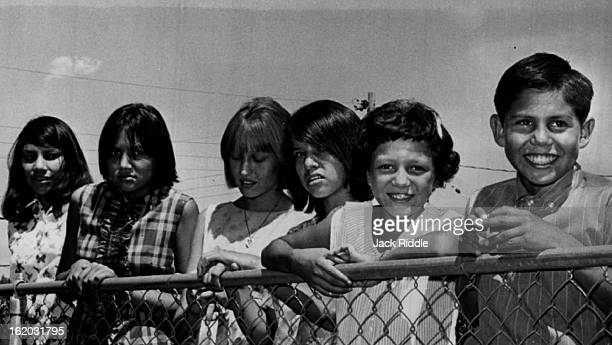AUG 17 1965 Indian Children Enjoy First Vacation EverIn Colorado The children who are vacationing with Littleton families are from left Mary Deschamp...